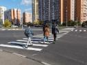 В столице открыты первые диагональные пешеходные переходы